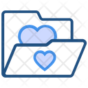 Heart Valentines Day Folder Icon