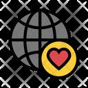 Favorite Globe Icon