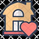 Love Heart Real Estate Icon