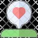Love Location Map Icon