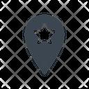 Location Pin Starred Icon