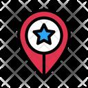 Favorite Location Starred Icon
