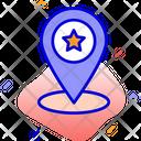 Favorite Location Location Pin Icon