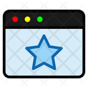 Favorite Page Star Rating Icon