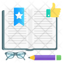 Favorite Pages Bookmark Book Ribbon Icon