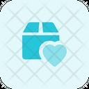 Favorite Parcel Box Heart Love Delivery Icon