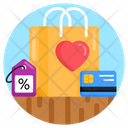 Favourite Shopping Shopping Bag Shopping Love Icon
