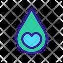 Waterdrop Contour Favorite Icon