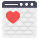 Favorite Website Favorite Webpage Romantic Website Icon
