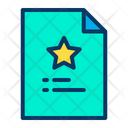 Favorites Document Favorites Page Notes Icon