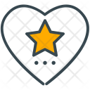 Favourite Heart Star Icon