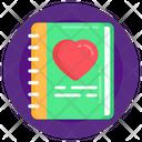 Love Book Favourite Book Favourite Notebook Icon