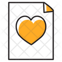Favourite Document Love Letter Favourite File Icon