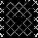 Document Star Mini Favourite Document Favaourite File Icon