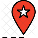 Favourite Location Gps Location Pin Icon