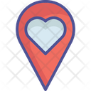 Favourite Location Heart Location Like Location Icon