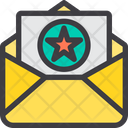 Best Award Paper Favourite Mail Starred Mail Icon