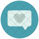 Text Heart Message Icon