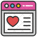 Heart Website Template Icon