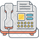 Fax Machine Document Icon