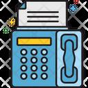 Fax Printer Machine Icon