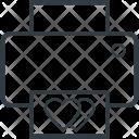 Fax Machine Heart Icon