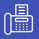 Fax Machine Device Icon