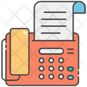 Fax Output Device Electronic Device Icon