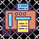 Ifax Machine Fax Machine Telefax Icon
