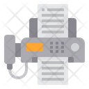 Fax Telephone Text Icon