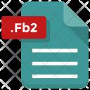 Fb 2 File Document Icon