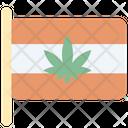 Flag Cannabis Cannabidiol Icon