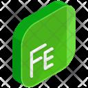 Fe Isometric Icon