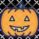 Fearful Halloween Pumpkin Horrible Icon