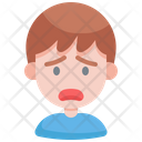 Fearful Scare Unhappy Icon