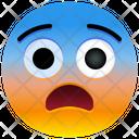 Fearful Face Emoji Emotion Icon