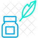 Feather Ink Writing Icon