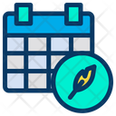 Feather Calender Planner Icon