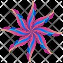 Feathers Logogram Shape Icon
