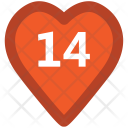 February Fourteen Valentine Icon