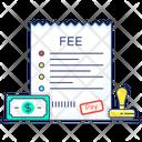 Fee Receipt Fee Bill Fee Invoice Icon