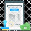 Fee Receipt Online Receipt Cash Receipt Icon
