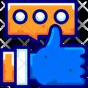Feedback Hand Positive Icon