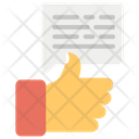Positive Feedback Goodwill Thumbs Up Icon
