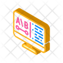 Review Computer Screen Icon