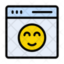 Smiley Webpage Browser Icon