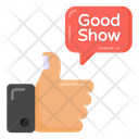 Review Thumbs Up Good Show Icon