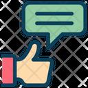Feedback Message Vote Icon