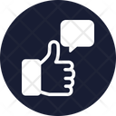 Comment Feedback Thumbs Up Icon