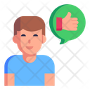 Review Feedback Thumbs Up Icon